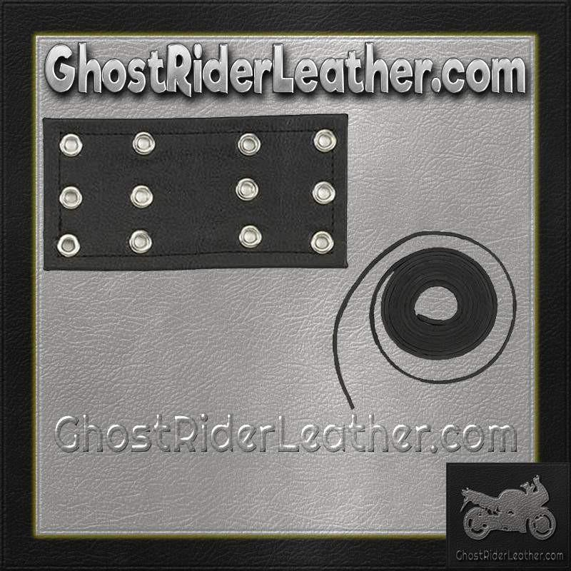 6 Inch Leather Chaps Extension with Leather Lacing / SKU GRL-CE2-CE3-GRL-leather chaps-Ghost Rider Leather