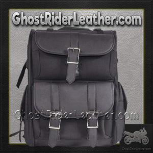 Big PVC Motorcycle Sissy Bar Bag / SKU GRL-SB11-NO-STUD-DL-sissy bar bag-Ghost Rider Leather
