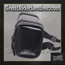 Black and Brown PVC Motorcycle Tool Bag - Fork Bag 10 or 12 Inch / SKU GRL-TB3041-DL - Ghost Rider Leather