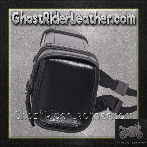 Black and Brown PVC Motorcycle Tool Bag - Fork Bag 10 or 12 Inch / SKU GRL-TB3041-DL-tool bag-Ghost Rider Leather