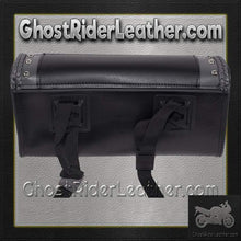 Black and Gray PVC Motorcycle Tool Bag - Fork Bag 10 or 12 Inch / SKU GRL-TB3030-DL - Ghost Rider Leather
