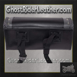 Black and Gray PVC Motorcycle Tool Bag - Fork Bag 10 or 12 Inch / SKU GRL-TB3030-DL-tool bag-Ghost Rider Leather