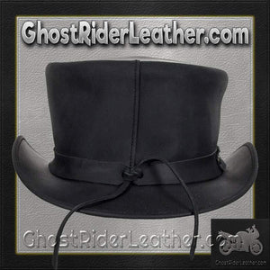 Black Leather Deadman Top Hat / SKU GRL-HAT1-11-DL - Ghost Rider Leather