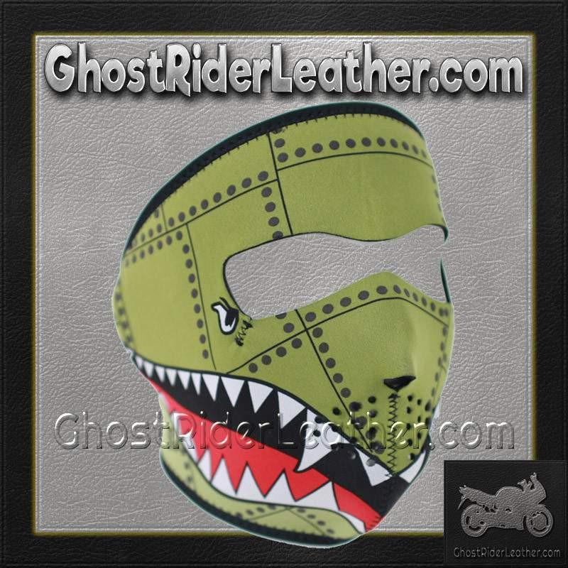 Bomber Neoprene Full Face Mask / SKU GRL-FMD04-WNFM010-HI-face mask-Ghost Rider Leather