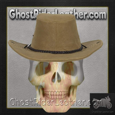 Brown Cowboy Hat / SKU GRL-HAT11-DL - Ghost Rider Leather