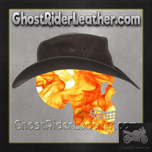 Brown Leather Gambler Hat / SKU GRL-HAT11-11-DL-cowboy hat-Ghost Rider Leather