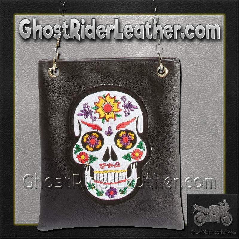 Casual Outfitters Ladies Sugar Skull Purse Handbag / SKU GRL-LUPURSKL-BF - Ghost Rider Leather