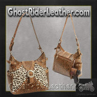 Casual Outfitters Western Style Concealed Carry Purse / SKU GRL-LUPWCHL3-BN-concealed carry handbag-Ghost Rider Leather