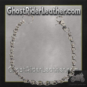Chain with Skulls, Great Addition to your Wallet / SKU GRL-WTC8-DL - Ghost Rider Leather