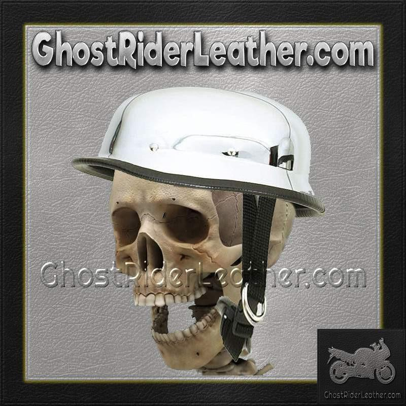 Chrome German Novelty Motorcycle Helmet / SKU GRL-HC102-DL-novelty helmet-Ghost Rider Leather