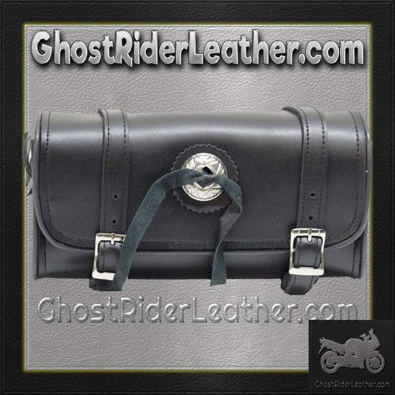 Concho PVC Motorcycle Tool Bag - Fork Bag 10 or 12 Inch / SKU GRL-TB3004-DL-tool bag-Ghost Rider Leather