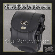 Decorative Motorcycle Leather Sissy Bar Bag with Gun Holster/ SKU GRL-SB86-DA-DL-sissy bar bag-Ghost Rider Leather