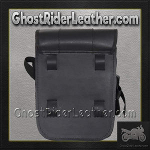 Decorative Motorcycle Leather Sissy Bar Bag with Gun Holster/ SKU GRL-SB86-DA-DL - Ghost Rider Leather