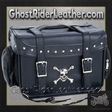 Diamond Plate Motorcycle Trunk Cooler Bag with Skull / SKU GRL-LUMCOOL-BN-motorcycle cooler bag-Ghost Rider Leather
