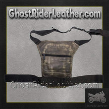 Distressed Brown Leather Multi Pocket Thigh Bag with Gun Pocket / SKU GRL-AC1025-12-DL - Ghost Rider Leather
