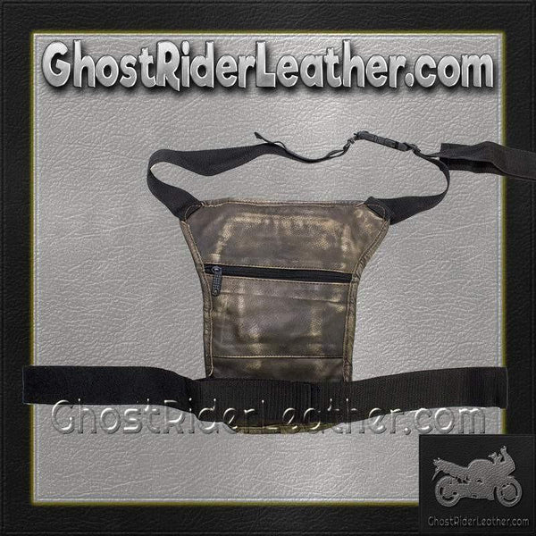 Distressed Brown Leather Multi Pocket Thigh Bag with Gun Pocket / SKU GRL-AC1025-12-DL-tool bag-Ghost Rider Leather