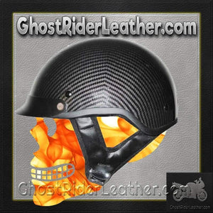 DOT Carbon Fiber LOOK Motorcycle Shorty Helmet / SKU GRL-1CL-HI-dot motorcycle helmet-Ghost Rider Leather