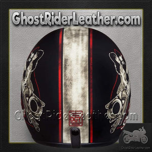 DOT Daytona Cruiser Built For Speed Open Face Motorcycle Helmet - SKU GRL-DC6-BFS-DH - Ghost Rider Leather
