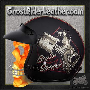 DOT Daytona Cruiser Built For Speed Open Face Motorcycle Helmet - SKU GRL-DC6-BFS-DH-dot motorcycle helmet-Ghost Rider Leather