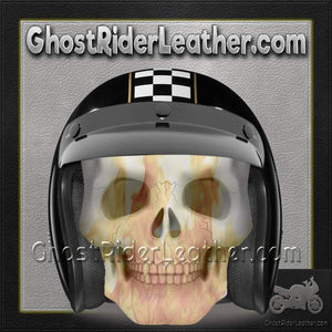 DOT Daytona Cruiser Cafe Racer Open Face Motorcycle Helmet / SKU GRL-DC6-CR-DH-dot motorcycle helmet-Ghost Rider Leather
