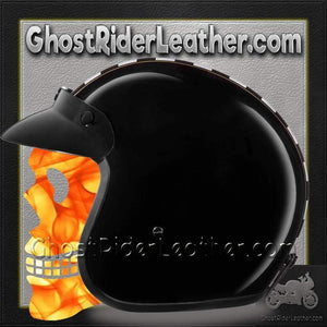 DOT Daytona Cruiser Cafe Racer Open Face Motorcycle Helmet / SKU GRL-DC6-CR-DH - Ghost Rider Leather