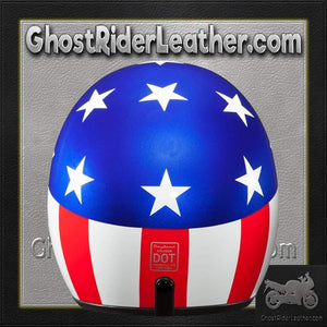 DOT Daytona Cruiser Captain America Open Face Motorcycle Helmet / SKU GRL-DC6-CA-DH - Ghost Rider Leather