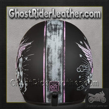 DOT Daytona Cruiser Gone Bad Open Face Motorcycle Helmet / SKU GRL-DC6-GB-DH-dot motorcycle helmet-Ghost Rider Leather
