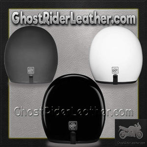 DOT Daytona Cruiser Open Face Motorcycle Helmet / SKU GRL-DC1-DH-dot motorcycle helmet-Ghost Rider Leather