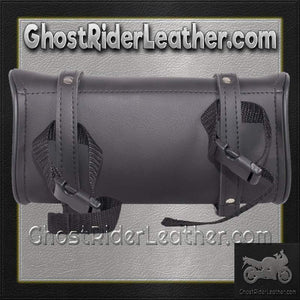 Flame PVC Motorcycle Tool Bag - Fork Bag 10 or 12 Inch / SKU GRL-TB-FLAME-DL-tool bag-Ghost Rider Leather