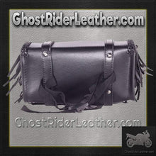 Fringe and Concho PVC Motorcycle Tool Bag - Fork Bag 10 or 12 Inch / SKU GRL-TB3000-DL - Ghost Rider Leather
