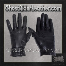 Full Finger Leather Riding Gloves with Air Vents - SKU GRL-GL2095-DL - Ghost Rider Leather