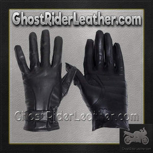 Full Finger Leather Riding Gloves with Air Vents - SKU GRL-GL2095-DL-leather riding gloves-Ghost Rider Leather