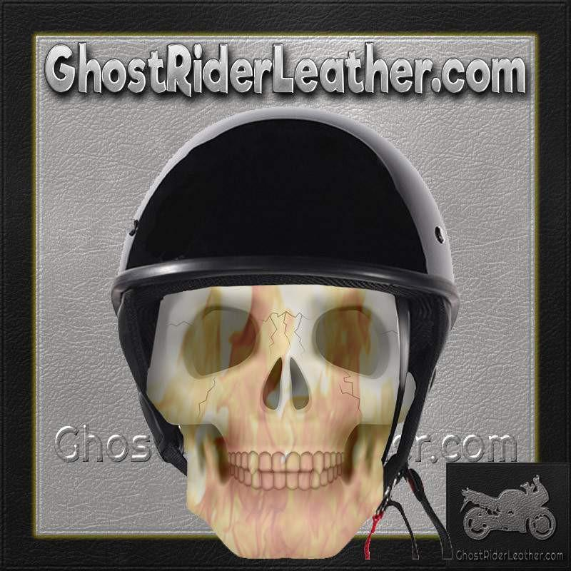 Gloss Black DOT Shorty Motorcycle Helmet / SKU GRL-HS1100-SHINY-DL