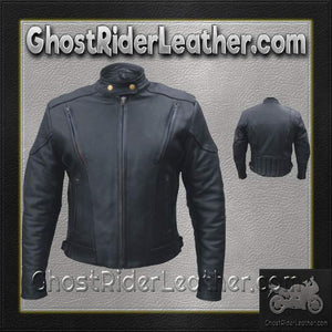 Ladies Euro Racer Biker Leather Jacket With Vents / SKU GRL-AL2145-AL-ladies leather jacket-Ghost Rider Leather