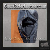Ladies Leather Motorcycle Vest with Satin Nickel Studs / SKU GRL-LV8510-DL-leather vest-Ghost Rider Leather