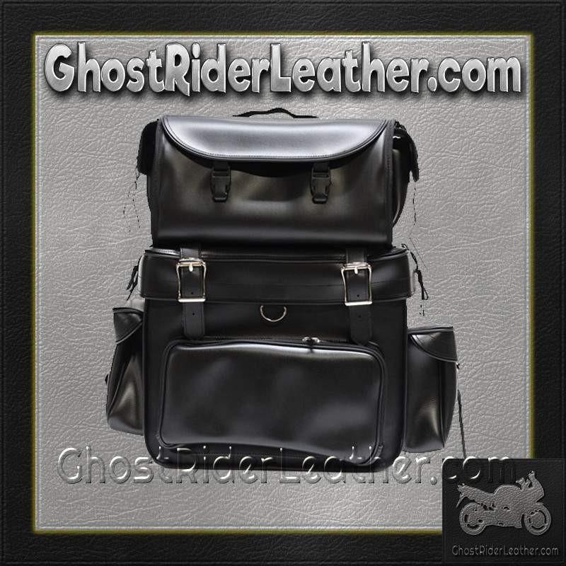 Large PVC Motorcycle Sissy Bar Bag / SKU GRL-SB002-DL-sissy bar bag-Ghost Rider Leather
