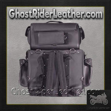 Large PVC Motorcycle Sissy Bar Bag with Studs / SKU GRL-SB002-S-DL-sissy bar bag-Ghost Rider Leather