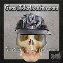 Leather Baseball Cap with Adjustable Back / SKU GRL-AC006-DL-leather baseball cap-Ghost Rider Leather