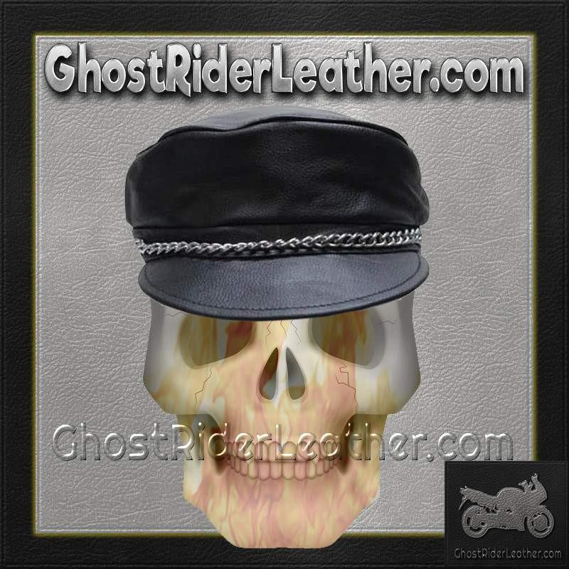 Leather Cap with Chain / SKU GRL-AC008-DL