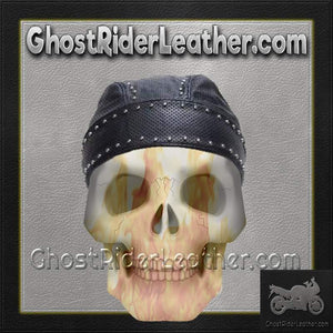 Leather Skull Cap with Studs / SKU GRL-AC007-13-DL - Ghost Rider Leather