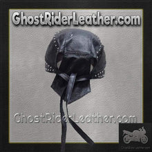 Leather Skull Cap with Studs / SKU GRL-AC007-13-DL-leather skull cap-Ghost Rider Leather