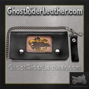 Live To Ride Leather Motorcycle Chain Wallet / SKU GRL-WALLET2-DL - Ghost Rider Leather