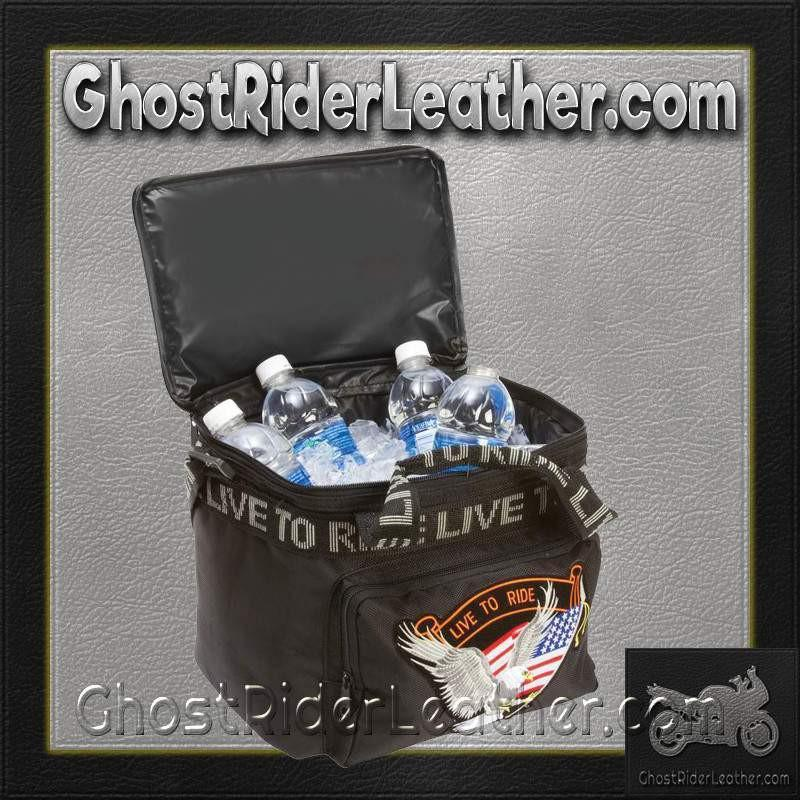 Live To Ride Motorcycle Cooler Bag / SKU GRL-LUMCOOLTR-BN - Ghost Rider Leather