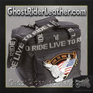Live To Ride Motorcycle Cooler Bag / SKU GRL-LUMCOOLTR-BN-motorcycle cooler bag-Ghost Rider Leather