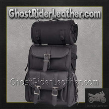 Medium PVC Motorcycle Sissy Bar Bag / SKU GRL-SB11-MED-NO-STUD-DL-sissy bar bag-Ghost Rider Leather