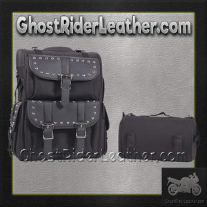 Medium PVC Motorcycle Sissy Bar Bag with Studs / SKU GRL-SB11-MED-STUD-DL-sissy bar bag-Ghost Rider Leather