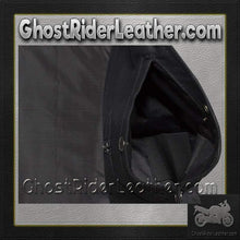 Mens Black Denim Motorcycle Club Vest / SKU GRL-MV8020-BD-DL-denim vest-Ghost Rider Leather