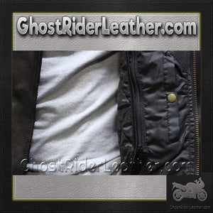 Mens Braided Pistol Pete Leather Jacket / SKU GRL-MJ708-DL-leather motorcycle jacket-Ghost Rider Leather