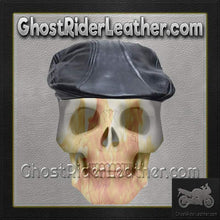 Mens Leather Driving Cap / SKU GRL-AC25-DL-leather cap-Ghost Rider Leather