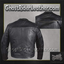 Mens Motorcycle Racer Jacket with Cool Diamond Pattern / SKU GRL-MJ821-DL-leather jacket-Ghost Rider Leather